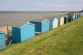 Beach huts a row of quaint in whitstable kent Royalty Free Stock Image