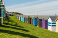 Beach huts a row of in whitstable kent uk Stock Photography