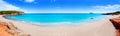 Beach in Ibiza island panoramic Royalty Free Stock Photo
