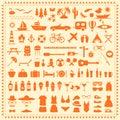 Beach icons, Royalty Free Stock Photo