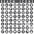 Beach Icons Royalty Free Stock Photo