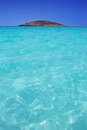 Beach Illetas Illetes in Formentera near Ibiza Royalty Free Stock Photo