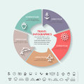 Beach infographics Royalty Free Stock Photo