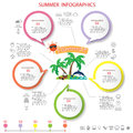 Beach infographics Royalty Free Stock Photo