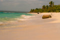 Beach of the island bounty view from shore Royalty Free Stock Photos