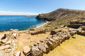Beach on Island of the Sun, Titicaca Lake, Bolivia Royalty Free Stock Photo