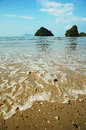 Beach island and in thailand karbi Stock Photography