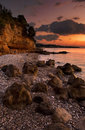 The beach in Kalamata Royalty Free Stock Images