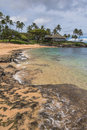 The beach of kapalua bay maui a view a sand in in hawaii Stock Photo