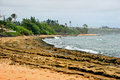 Beach on kauai island scenic view of hawaii Royalty Free Stock Images
