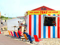 Beach kiosk weymouth dorset a refreshment next to the promenade at england uk Stock Images