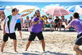 Beach Korfball Tournament Stock Photography