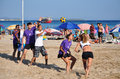 Beach Korfball Tournament Royalty Free Stock Image