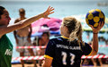 Beach korfball tournament photography from didim international took place in didim turkey during august september with Stock Photo