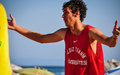 Beach korfball tournament photography from didim international took place in didim turkey during august september with Royalty Free Stock Photo