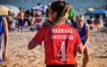 Beach korfball tournament photography from didim international took place in didim turkey during august september with Royalty Free Stock Images