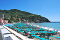Beach of Levanto - Italy Royalty Free Stock Images