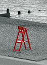 Beach lifeguard chair Royalty Free Stock Photo