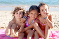 Beach little girls on the Stock Photography