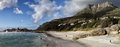 Beach of llandudno cape town panoramic view the a suburb south africa Stock Photos