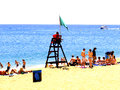 The beach, Lloret-de-Mar, Spain. Stock Photos