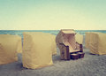 Beach lounges Royalty Free Stock Photo