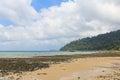 Beach at low tide in Tioman island Stock Photo