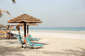 Beach of the luxury hotel ajman uae Royalty Free Stock Photos