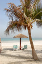 Beach of the luxury hotel ajman uae Royalty Free Stock Images