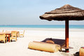 Beach of the luxury hotel ajman uae Stock Photo