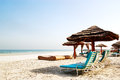 Beach of the luxury hotel ajman uae Stock Photos