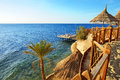 Beach at the luxury hotel sharm el sheikh egypt Royalty Free Stock Images