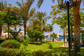 Beach at the luxury hotel sharm el sheikh egypt view on Royalty Free Stock Photography