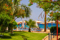 Beach at the luxury hotel sharm el sheikh egypt view on Royalty Free Stock Photo