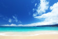 Beach of mahe island seychelles Royalty Free Stock Images