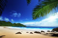 Beach at mahe island seychelles Stock Photography