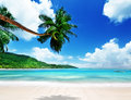 Beach on mahe island in seychelles Royalty Free Stock Photos
