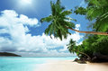 Beach on mahe island in seychelles Stock Photos