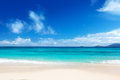 Beach of mahe island seychelles Stock Images