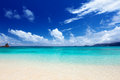 Beach of mahe island seychelles Stock Photography