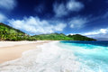 Beach at mahe island seychelles Stock Images