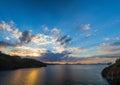 Beach at Mediterranean sea. Fethiye, Turkey Royalty Free Stock Photo