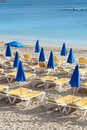 Beach of mediterranean sea in majorca island spain Royalty Free Stock Photo