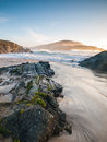 Beach in meiras galicia spain a beautiful place the north of Royalty Free Stock Photography