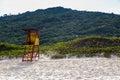 Beach mole praia mole in florianopolis santa catarina brazil beautiful blue water and sky Royalty Free Stock Images
