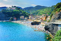 Beach in Monterosso al Mare Royalty Free Stock Photo