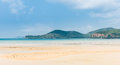 Beach and mountains in sattahip chonburi thailand Stock Images