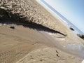 Beach near slea head on the dingle peninsula in ireland with a clear blue sky Royalty Free Stock Photography