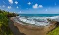 Beach near Tanah Lot Temple - Bali Indonesia Royalty Free Stock Photo