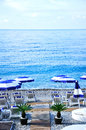 Beach in Nice city, south France Royalty Free Stock Photo